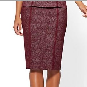 NY&CO Wine Pull-on Pencil Skirt